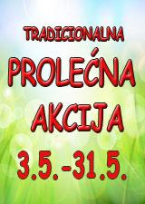 VELIKA PROLEĆNA AKCIJA OD 3. DO 31. MAJA 2019.