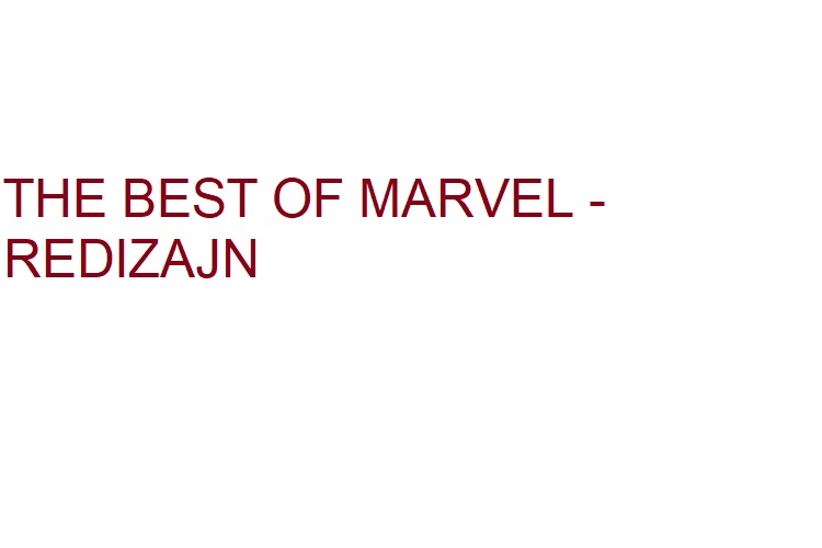 The Best of Marvel - REDIZAJN